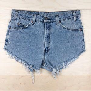 Vintage Orange Tab Levi's 517 Cutoff Shorts